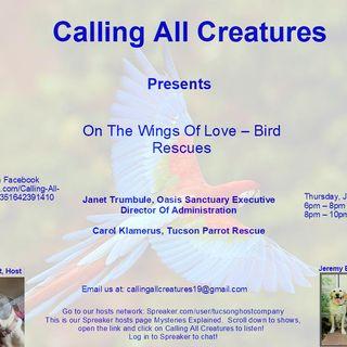 Calling All Creatures Welcomes Janet Trumbule and Carol Klamerus