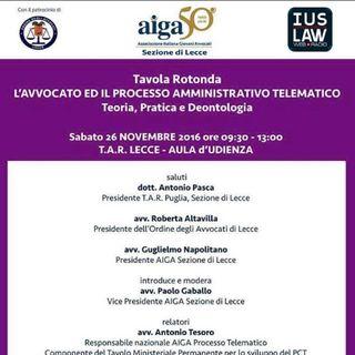 SPECIALE  PAT – Convegno AIGA – Lecce del 26 novembre 2016 SECONDA PARTE