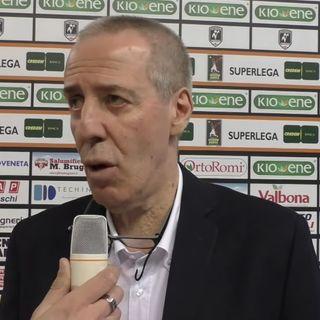 """Vibo Valentia: Coach Bagnoli dopo il ko con Padova. """"Troppo altalenanti nel gioco di squadra. Noi dobbiamo salvarci, ancora non conosco i gi"""