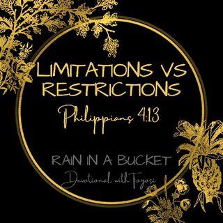 Limitations vs Restrictions