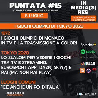 #15 | Giochi Olimpici in Tv. Monaco 1972 e la trasmissione a colori. Dove vedremo Tokyo 2020? Tra Eurosport, Rai, DAZN e Sky (?)
