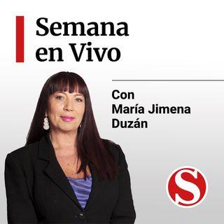 La ministra Nancy Patricia Gutiérrez en Semana En Vivo.