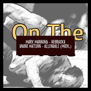 Nebraska's Mark Manning and Allendale (Mich.) coach Duane Watson - OTM530