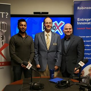 Ben Lawrence with Robinson College of Business, Minal Patel with MP Hospitality and Dr. Geoffrey Graybeal with GSU