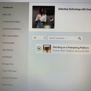 Settings and Sharing Spreaker Podcast