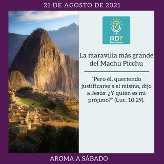 21 de agosto - La maravilla más grande del Machu Picchu - Devocional de Jóvenes - Etiquetas Para Reflexionar