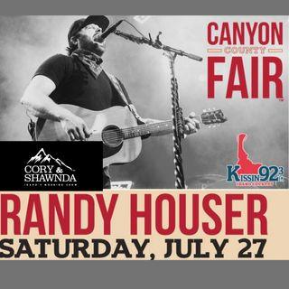 Randy Houser announcement @ 2019 Canyon Country Fair