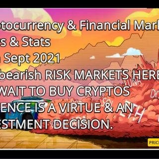 Cryptocurrency & Financial Markets  News & Stats 27th Sept 2021 Still bearish RISK MARKETS HERE  WE WAIT TO BUY CRYPTOS  PATIENCE IS A VIRTU