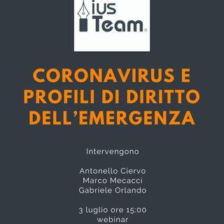 Coronavirus e profili di diritto dell'emergenza