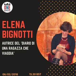 Elena Bignotti 'Diario di una ragazza che viaggia' e a seguire primo collegamento da Sanremo
