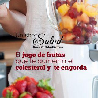 El jugo de frutas que te aumenta el colesterol