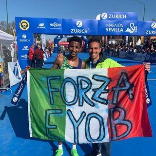 Eyob Faniel Ghebrehiwet ha stabilito il nuovo record italiano di maratona: 2h07'19'' (audio – interviste a Faniel, Pertile, Chittolini)