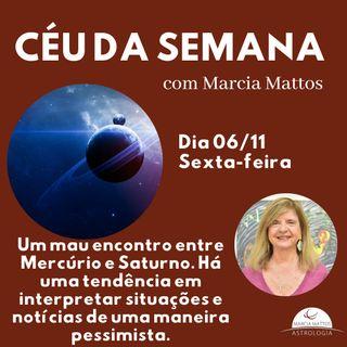 Céu da Semana - Sexta dia 06/11: Um mau encontro entre Mercúrio e Saturno.