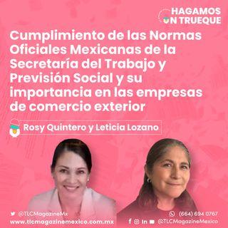 Episodio 47. Cumplimiento de las NOMs y su importancia en las empresas de comercio exterior ⋅ Con Rosy Quintero y Leticia Lozano