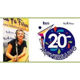 20 ANIVERSARIO FORUM: Juana Vázquez, periodista, educadora, feminista, activista