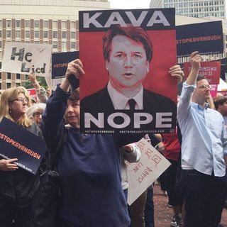 At City Hall, Protesters Call For Sen. Flake To Reject Kavanaugh Nomination