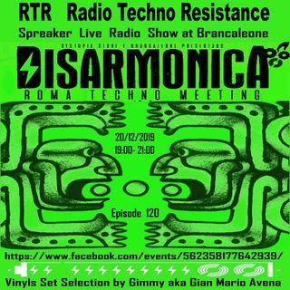 DisarmonicA - RTR Radio Techno Resistance Live Transmission at Brancaleone - Rome Techno Meeting