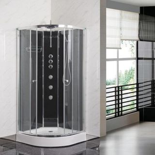Shower enclosure doors and partition styles are the same as per shower space