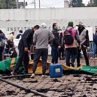 Destrozan casilla en Metepec