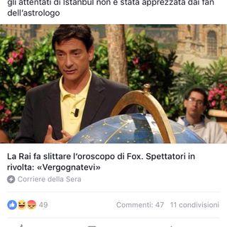 Rinviato l'#oroscopo di #fox e l'Italia si indigna !
