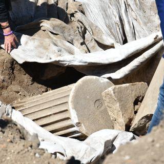 Scavi all'area archeologica di Minturnae, le interviste