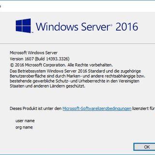 Windows Server 2016: Fehler In