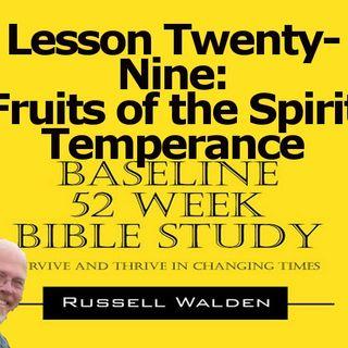 Fruits of the Spirit Temperance