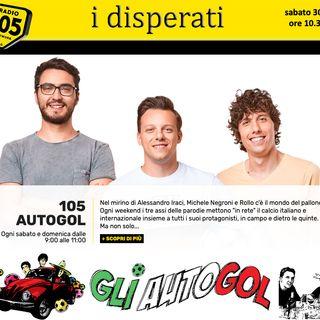 Capitan Zac ai microfoni de Gli Autogol su Radio 105, marzo 2019