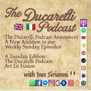 The Ducarelli Podcast Art Lit Fusion Fusione Arte Letteratura  Ines Sirianni