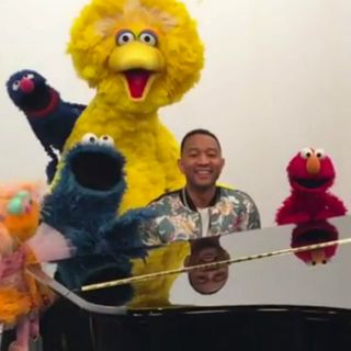 "John Legend's daughter, Luna, reacts to her daddy being on ""Sesame Street"""