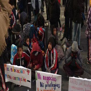 Niños de Oaxaca piden apoyo a 4T
