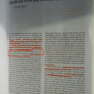 """Reading And Discussion """"The Aesthetic Hypothesis: Significant Form And Aesthetic Emotion By Clive Bell"""