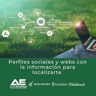 Perfiles sociales y webs con tu información para localizarte