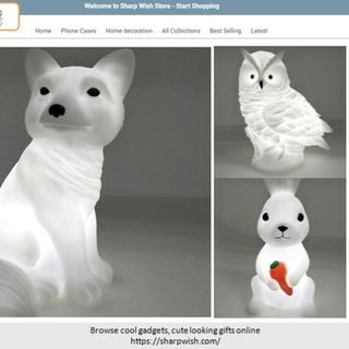 Cute Owl Rabbit and Fox Nightlight