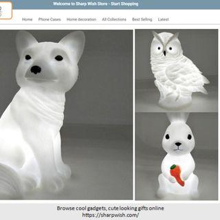 Cute Owl Rabbit and Fox Nightlight