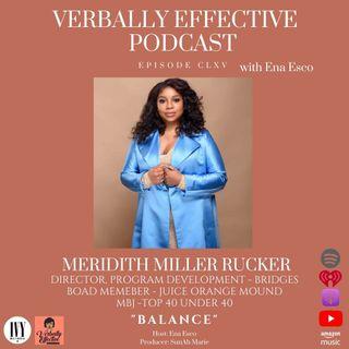 "EPISODE CLXVI | ""BALANCE"" w/ MERIDITH MILLER RUCKER"