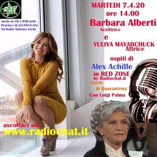 Barbara Alberti e Yuliya Mayarchuck ospit ai microfoni di Alex Achille in RED ZONE by Radiochat.it
