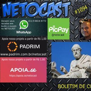NETOCAST 1094 DE 29/11/2018 - Platão e o mundo das lutas