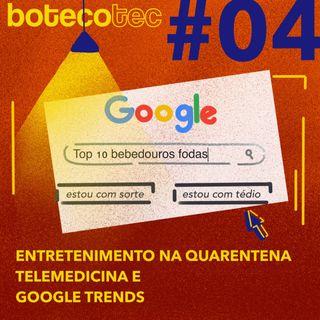 Entretenimento na Quarentena, Telemedicina e até Google Trends
