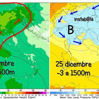 Previsioni Meteo 22-24/12. In vista del Natale clima mite: più nebbie che neve