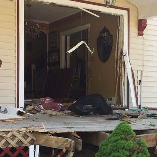 Car Plows Into Melrose Home