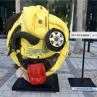 Sprint Unveils Car Crash Sculpture 2 Deter Miami's Texting Drivers @AlmaAgency