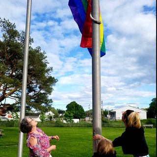 Pride Flag Raising