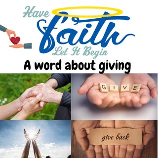 A word about giving