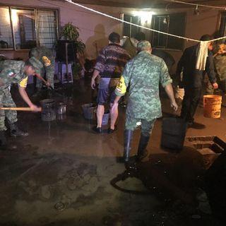 Implementan Plan DN-III-E en Puebla por fuertes lluvias