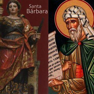 San Juan Damasceno y Santa Bárbara, mártir