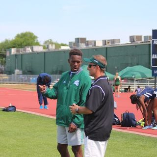 Coach Tony Brillon of the Stratford Spartans Track Program