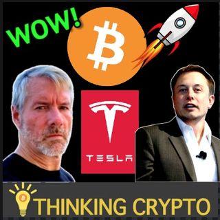 MIchael Saylor Tells Elon Musk To Put BITCOIN On Tesla's Balance Sheet!!