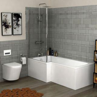 L Shaped Shower Bathtubs
