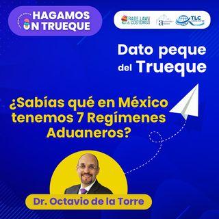 E13 Dato Peque del Trueque: Sabías qué en México tenemos 7 Regímenes Aduaneros.